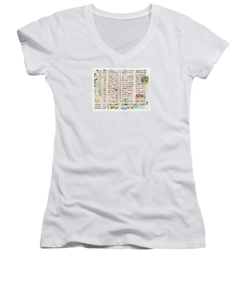 The Harlem Map Women's V-Neck (Athletic Fit)