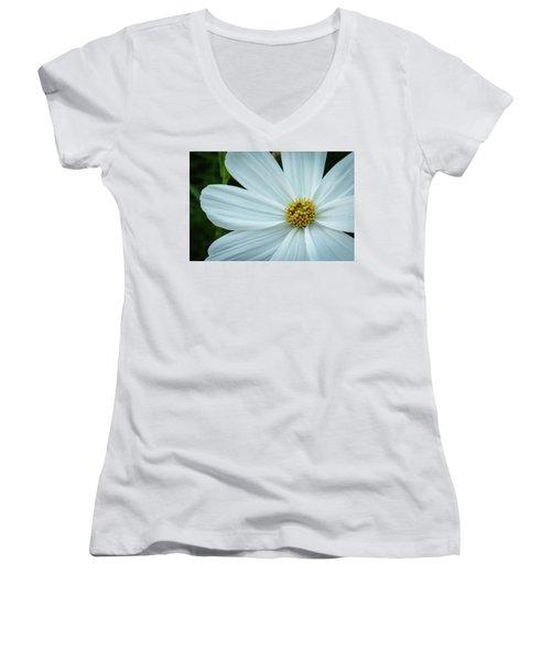 The Heart Of The Daisy Women's V-Neck T-Shirt (Junior Cut) by Monte Stevens