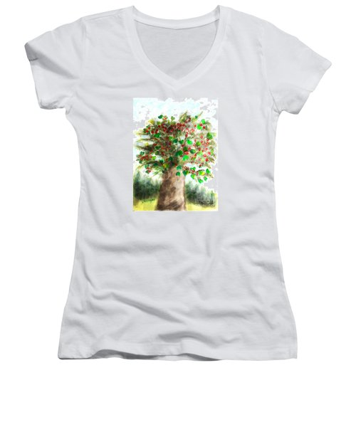 The Holy Oak Tree Women's V-Neck