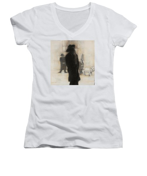 The Incongruity Of It All  Women's V-Neck T-Shirt (Junior Cut) by Jean Cormier