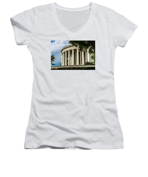 The Jefferson Memorial Women's V-Neck