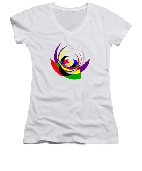 The Jester Women's V-Neck T-Shirt (Junior Cut) by Methune Hively