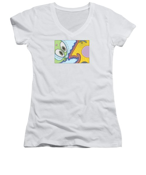 The Joker Is Wild Women's V-Neck (Athletic Fit)