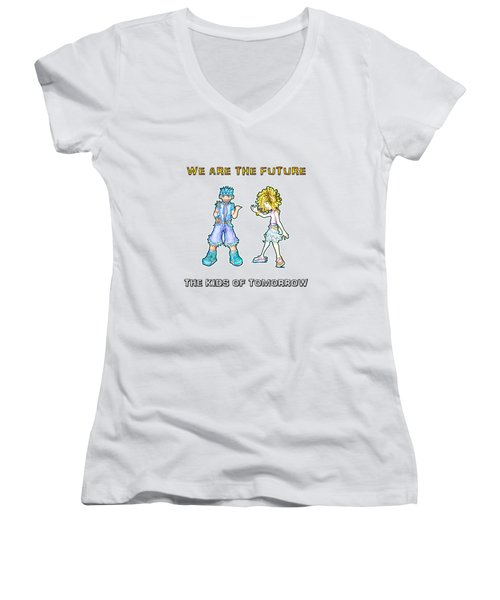 The Kids Of Tomorrow Toby And Daphne Women's V-Neck (Athletic Fit)