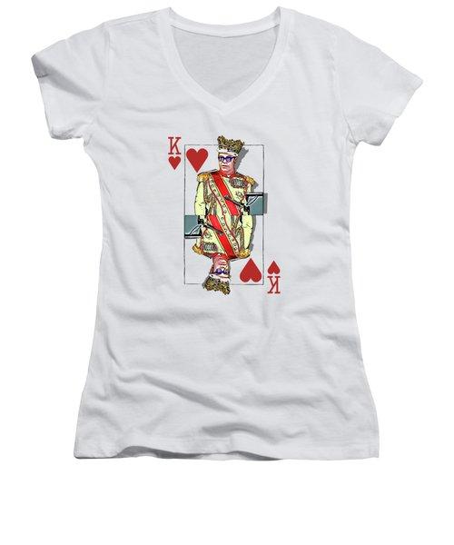 The Kings - Elton John Women's V-Neck (Athletic Fit)
