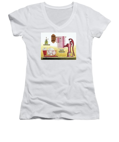 The Kitchen Sink Women's V-Neck (Athletic Fit)
