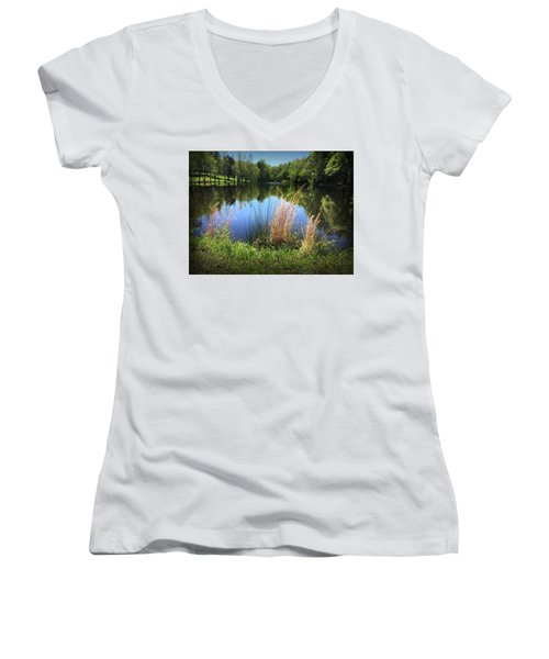 The Lake At Musgrove Mill Women's V-Neck