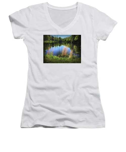 The Lake At Musgrove Mill Women's V-Neck T-Shirt