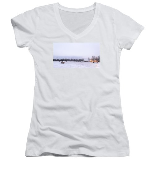 The Last Farm... Women's V-Neck T-Shirt