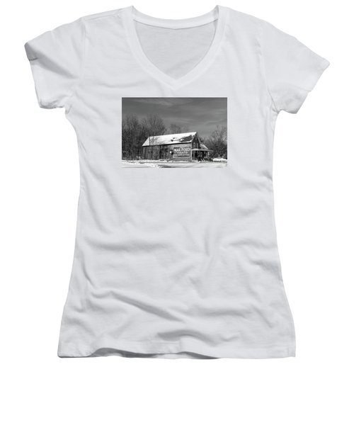 The Layton Country Store Women's V-Neck T-Shirt (Junior Cut) by Nicki McManus