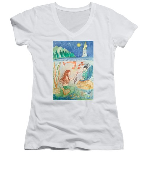 The Little Mermaid Women's V-Neck T-Shirt