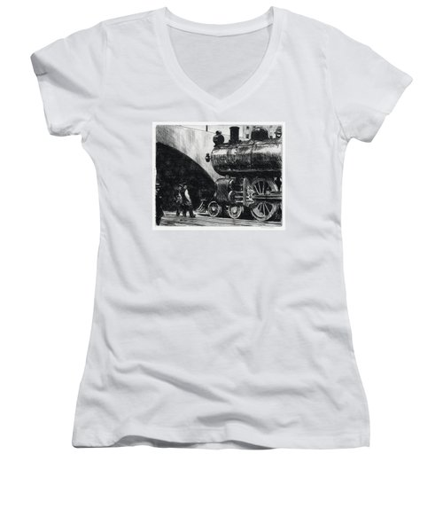 The Locomotive Women's V-Neck