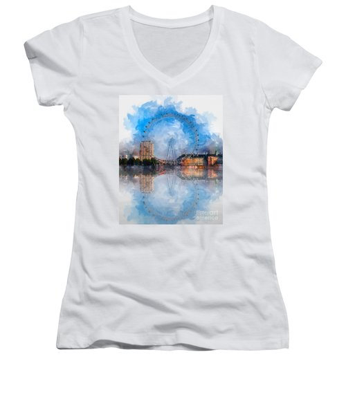 The London Eye Women's V-Neck