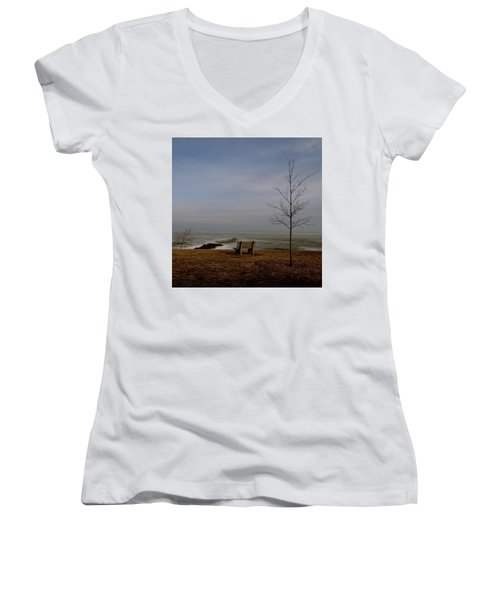 The Lonely Bench Women's V-Neck