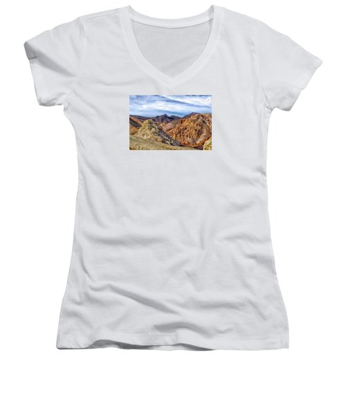 The Monte Cristos  Women's V-Neck T-Shirt (Junior Cut) by Janis Knight