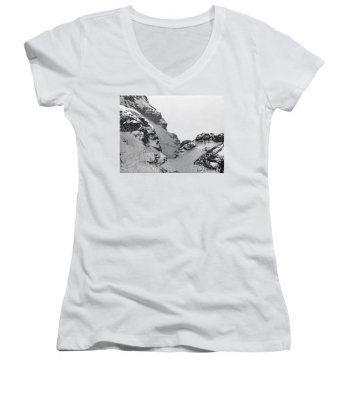 The Mountain Abyss Women's V-Neck (Athletic Fit)