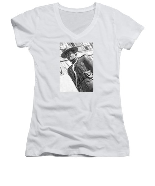 The Mountie Women's V-Neck T-Shirt