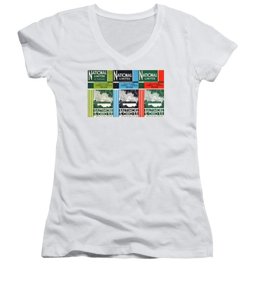 The National Limited Collage Women's V-Neck (Athletic Fit)