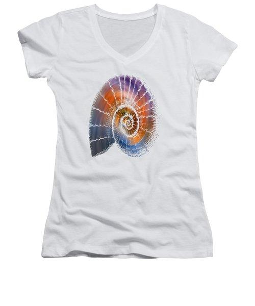 The Nautilus Shell  Transparent Women's V-Neck T-Shirt