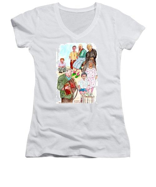 The Neighborhood Music Man Women's V-Neck T-Shirt (Junior Cut)