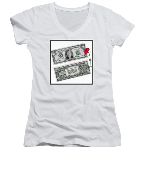 The New Trump Currency Women's V-Neck