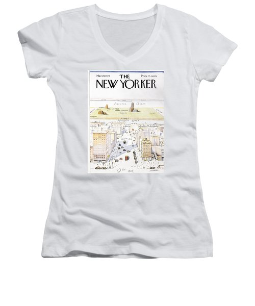 New Yorker March 29, 1976 Women's V-Neck