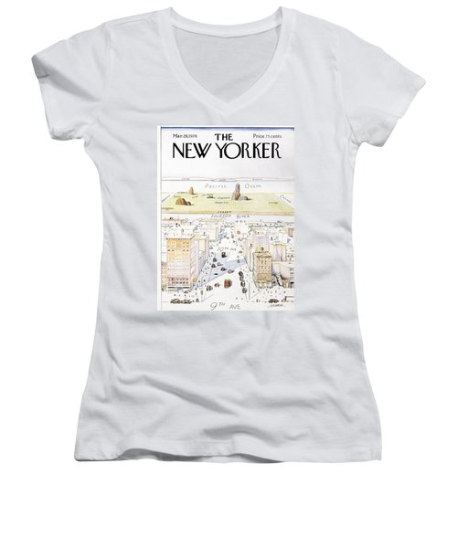 View From 9th Avenue Women's V-Neck (Athletic Fit)