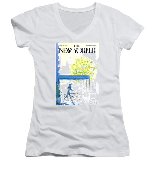 The New Yorker Cover - May 26th, 1973 Women's V-Neck