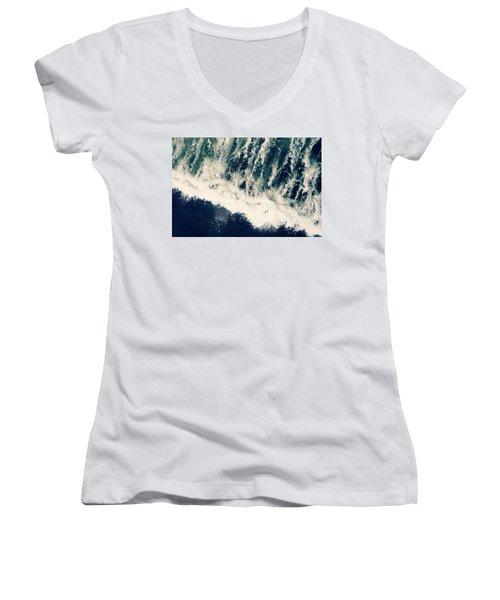 The Ocean Roars Women's V-Neck T-Shirt