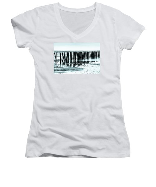 The Old Docks Women's V-Neck T-Shirt