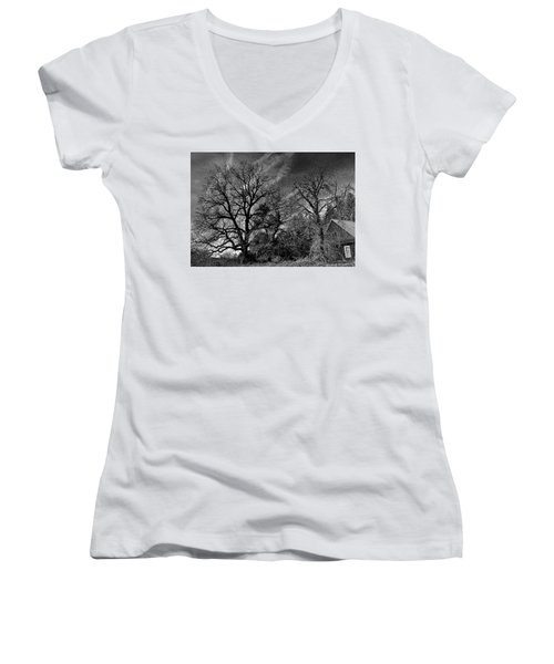 The Old Oak Tree Women's V-Neck (Athletic Fit)