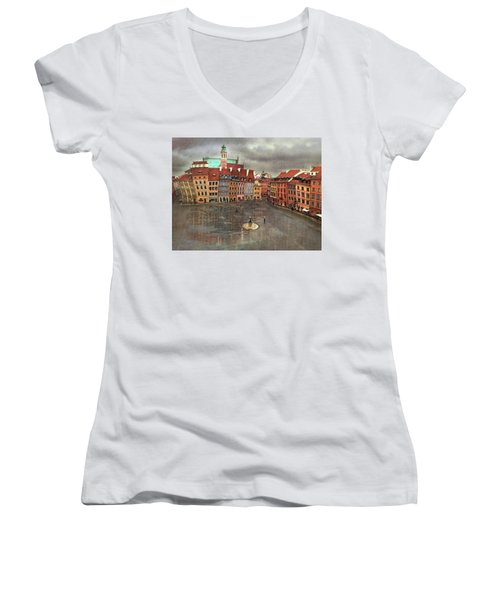 The Old Town # 24 Women's V-Neck (Athletic Fit)