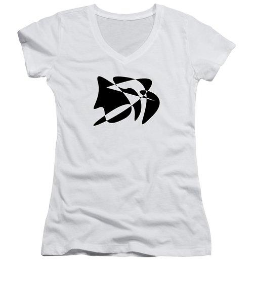 The Orator Women's V-Neck T-Shirt (Junior Cut) by David Bridburg