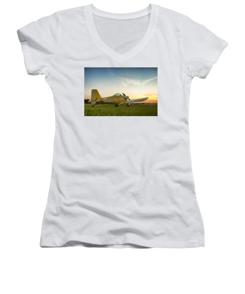 The Original Women's V-Neck T-Shirt (Junior Cut) by Steven Richardson