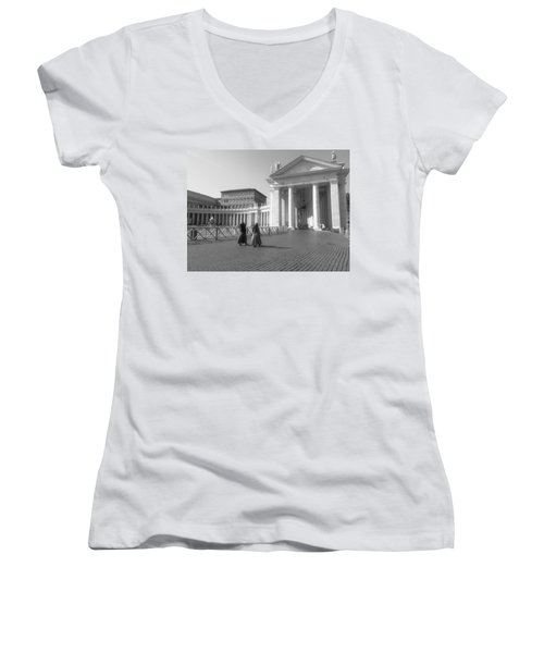 The Path To Temple Women's V-Neck (Athletic Fit)
