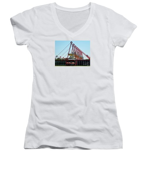 Women's V-Neck T-Shirt (Junior Cut) featuring the photograph The Patscentre by Lyric Lucas