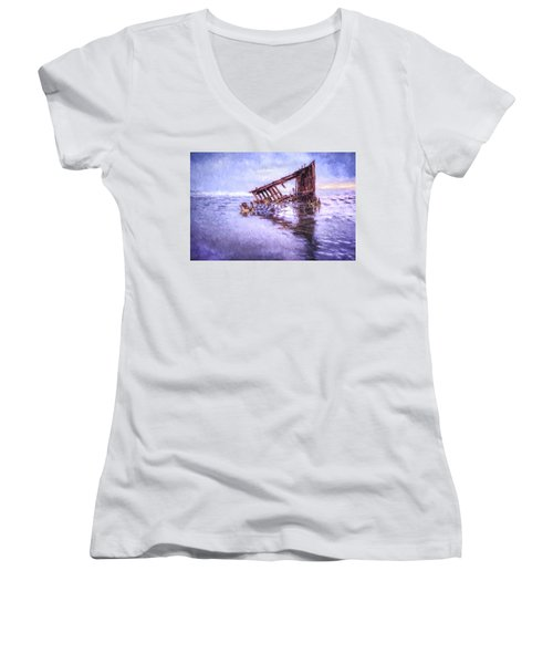 A Stormy Peter Iredale Women's V-Neck