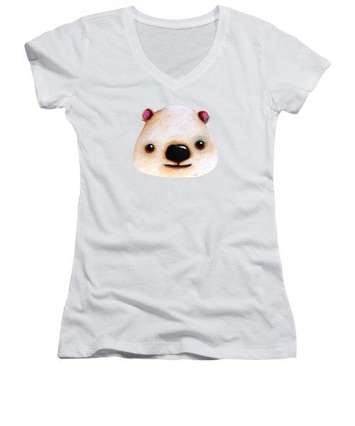 The Polar Bear Women's V-Neck T-Shirt (Junior Cut)