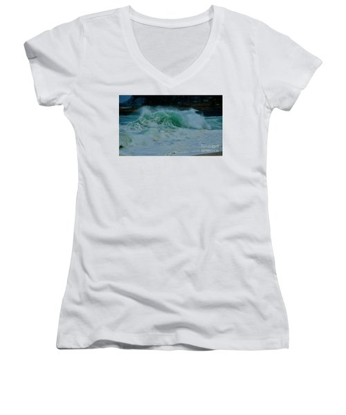 The Power Of Waves Women's V-Neck (Athletic Fit)