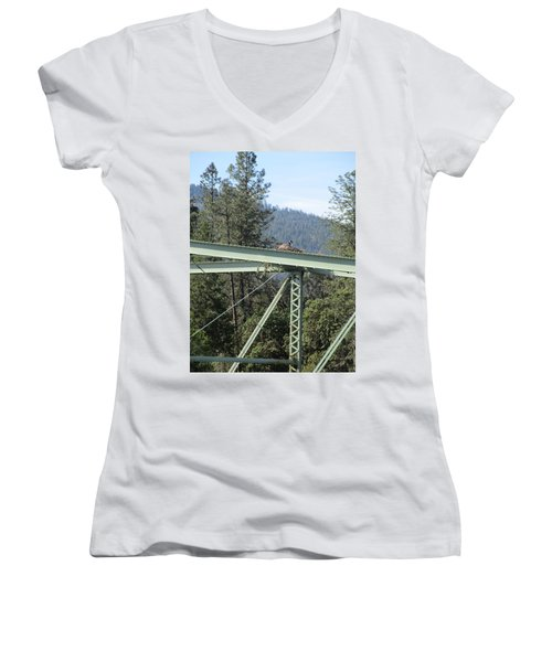 Women's V-Neck T-Shirt (Junior Cut) featuring the photograph The Pretender by Marie Neder