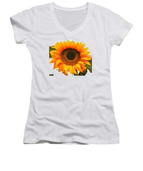The Prettiest Sunflower Women's V-Neck (Athletic Fit)