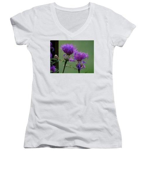 The Purple Bloom Women's V-Neck
