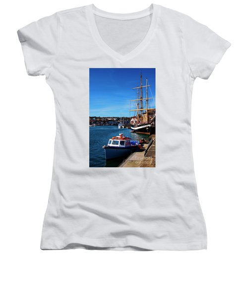 The Quayside  Women's V-Neck (Athletic Fit)