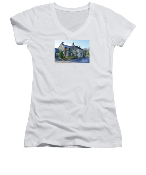 The Queen Anne At Great Hucklow Women's V-Neck T-Shirt