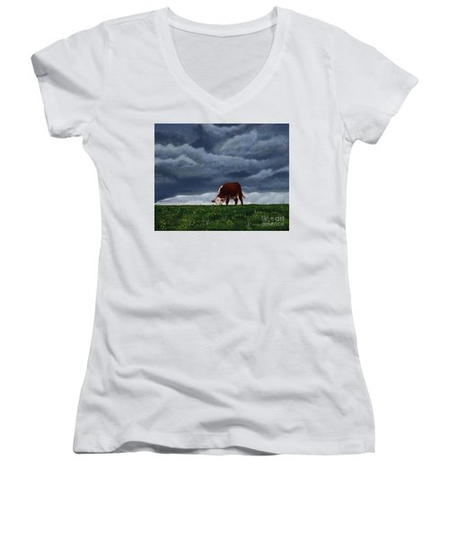 The Quiet Before The Storm Women's V-Neck (Athletic Fit)