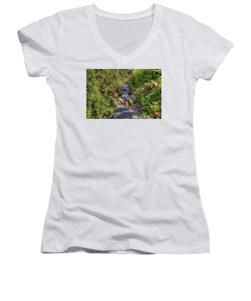 The Quinault Stream 2 Women's V-Neck T-Shirt