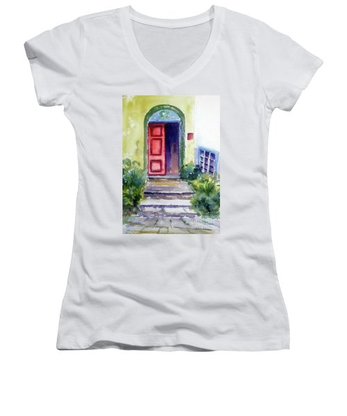 The Red Door Women's V-Neck
