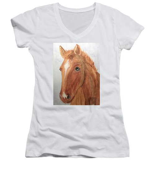 The Red Pony Women's V-Neck (Athletic Fit)
