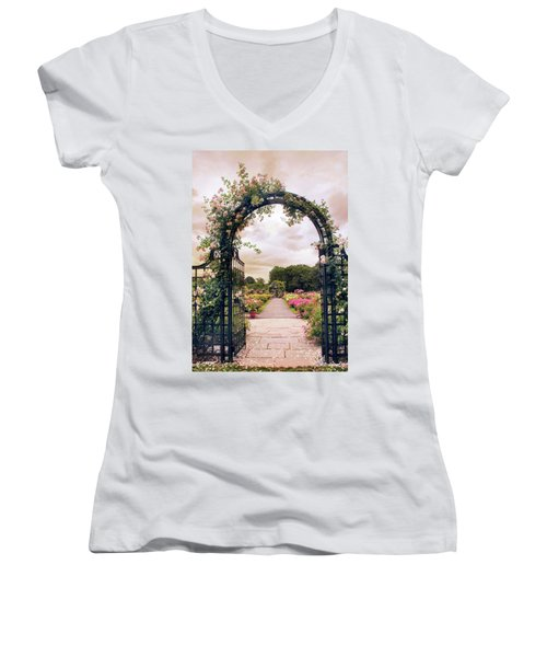 The Rose Allee Women's V-Neck