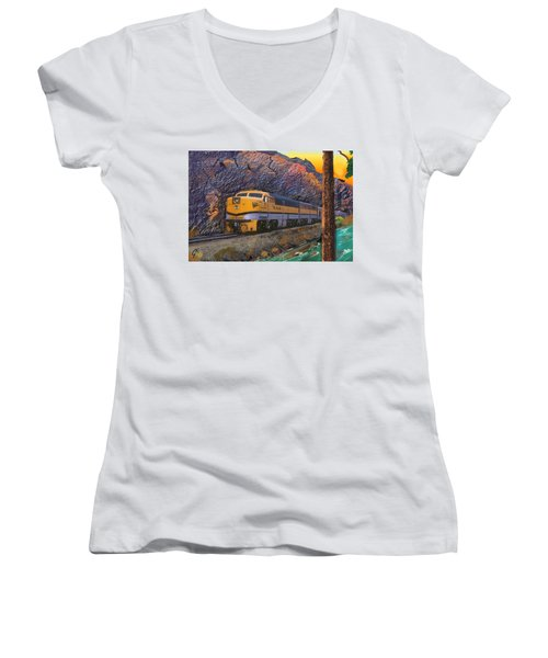 The Royal Gorge Women's V-Neck T-Shirt (Junior Cut) by J Griff Griffin